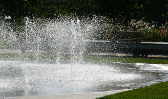 Le jardin des Traces - Fontaines